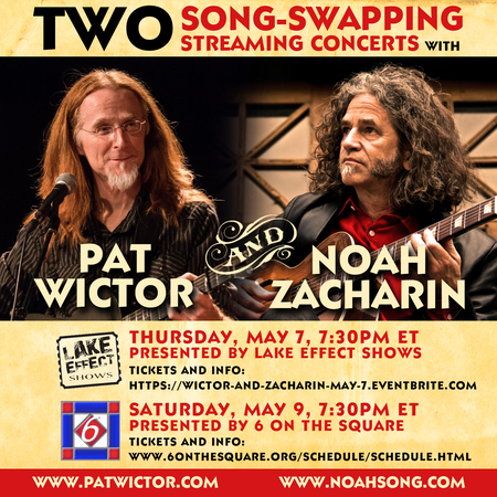 Streaming Concerts May 7 and May 9 with Noah Zacharin